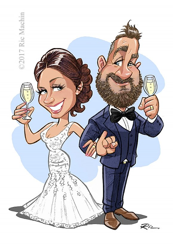 Sketch of Vicki and Steve for their reception. See  http://www. ricmachin.co.uk/Weddings.html  &nbsp;   for more samples. #weddingwednesday #weddinghour #handmadehour<br>http://pic.twitter.com/XlMfeEPIki