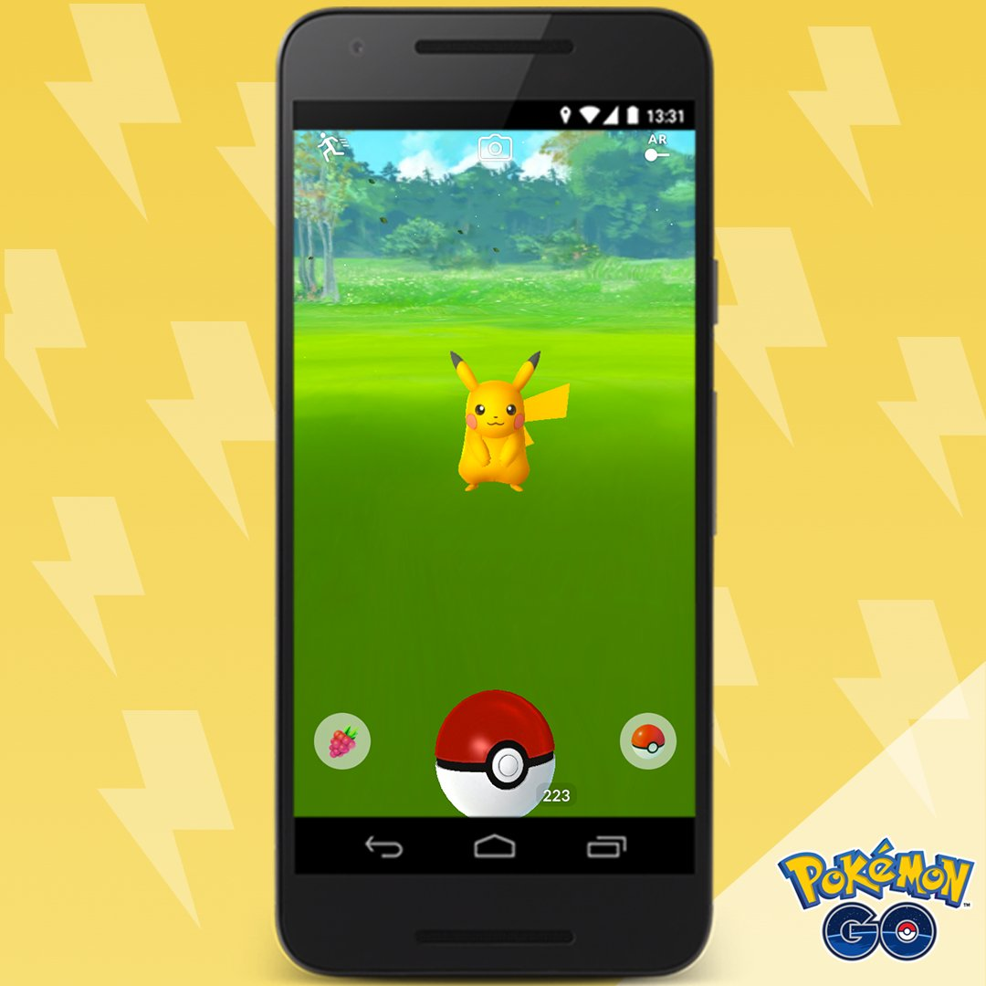 pok mon go on twitter shiny pikachu has been spotted in the wild. Black Bedroom Furniture Sets. Home Design Ideas