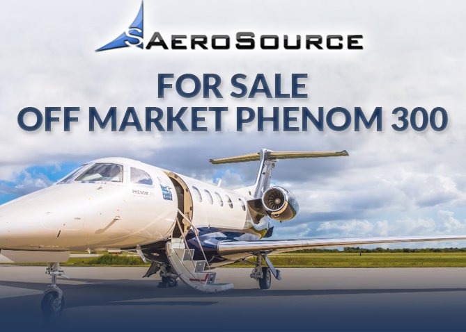 Off Market Phenom 300 for sale at Aerosource. Learn more at #aircraftforsale #bizjet #bizav  http:// ow.ly/U8nF30esB5R  &nbsp;  <br>http://pic.twitter.com/nFwc1ckihB