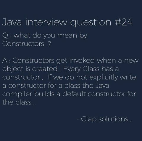 Next question of our #Java #interview #Question #series For more info about the #Question ping us @Clap_Solutions   #BePositiveIn4Words<br>http://pic.twitter.com/yKMg4k6505