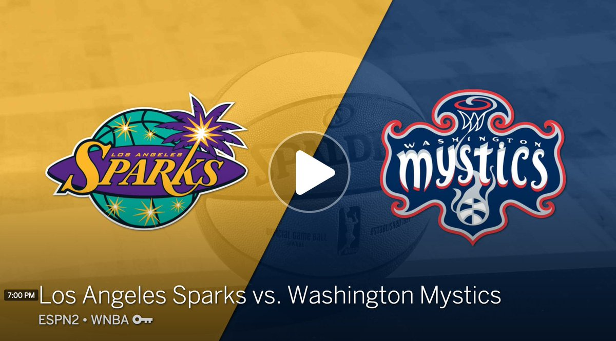 Will Washington clinch a playoff spot, or will LA make it 7 straight wins vs. the Mystics? Watch now on ESPN2/here: https://t.co/M0JOdZWx0X