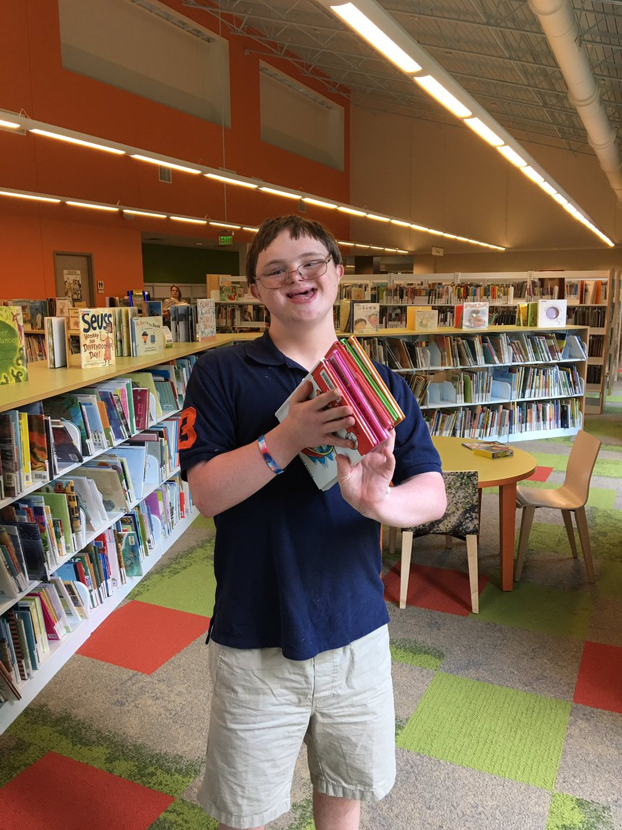 After blood draws &amp; doctor apts,  Jacob earned some library time.  #booklover #downsyndrome #autism #cancersurvivor  @cityofmiltonga<br>http://pic.twitter.com/QfcXiqbzWd &ndash; bij Milton Library