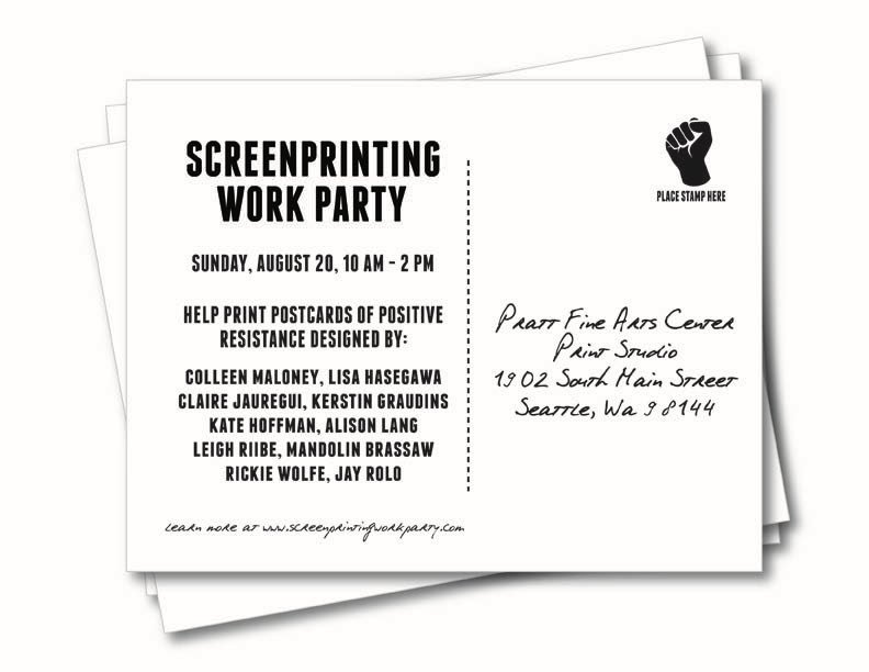#Seattle! Participate in a bit of #positive #resistence this Sun at the Screenprinting Work Party @PrattFineArts  http:// bit.ly/swp-ppsea  &nbsp;  <br>http://pic.twitter.com/jQoGYTstI2