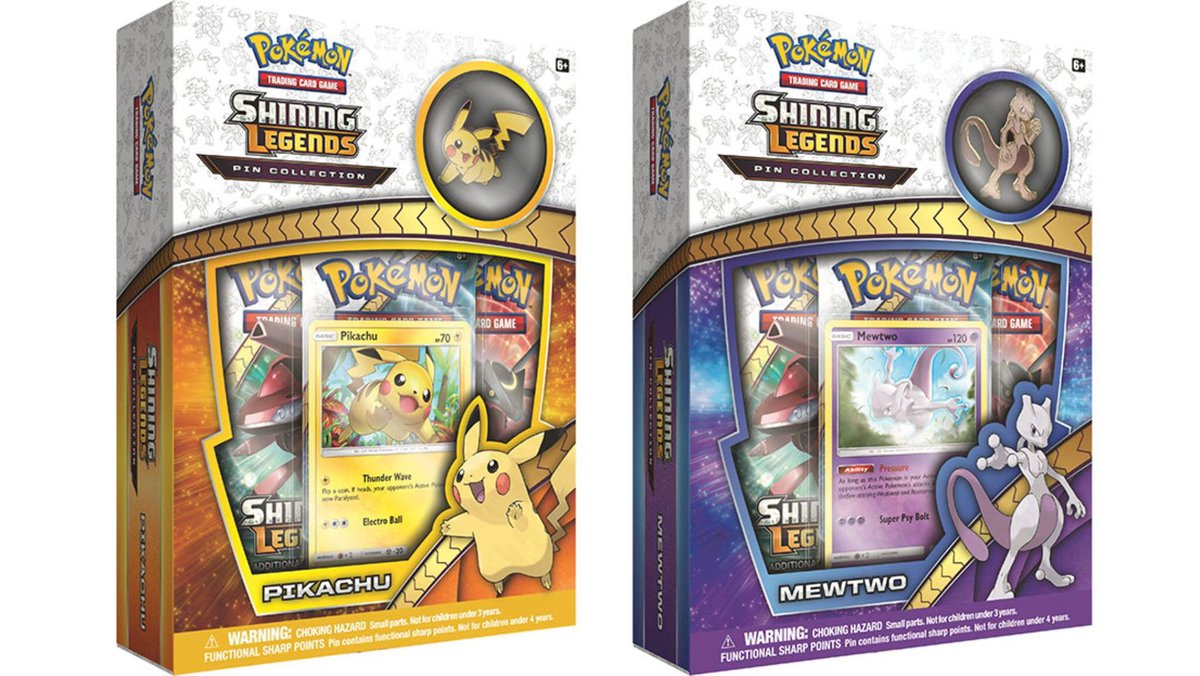 #Pokémon Shining Legends Pikachu and Mewtwo Pin Collection boxes! <br>http://pic.twitter.com/BJEyjENCeU