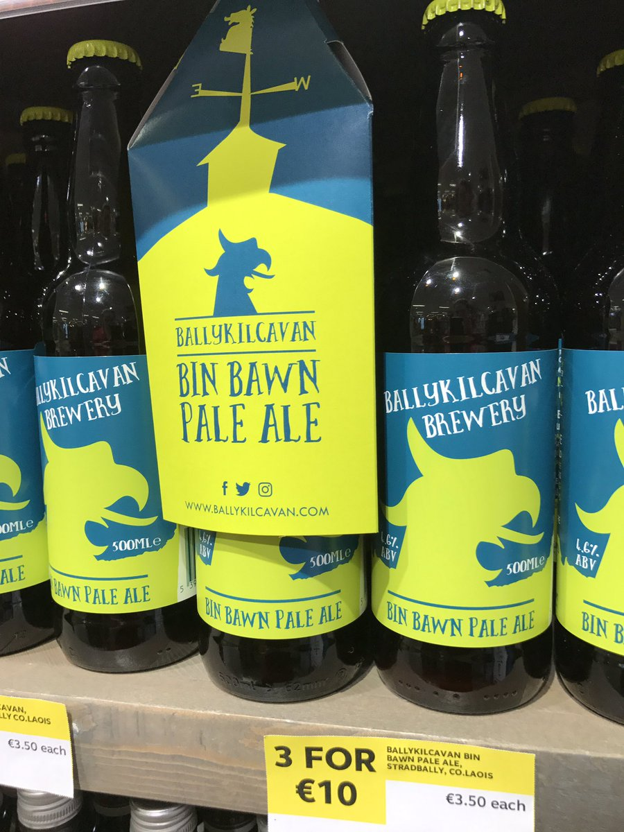We  supporting local, @Ballykilcavan &amp; @12acresbrewing  available in store  #craftbeer #laois #local <br>http://pic.twitter.com/5gwR4SyH3b