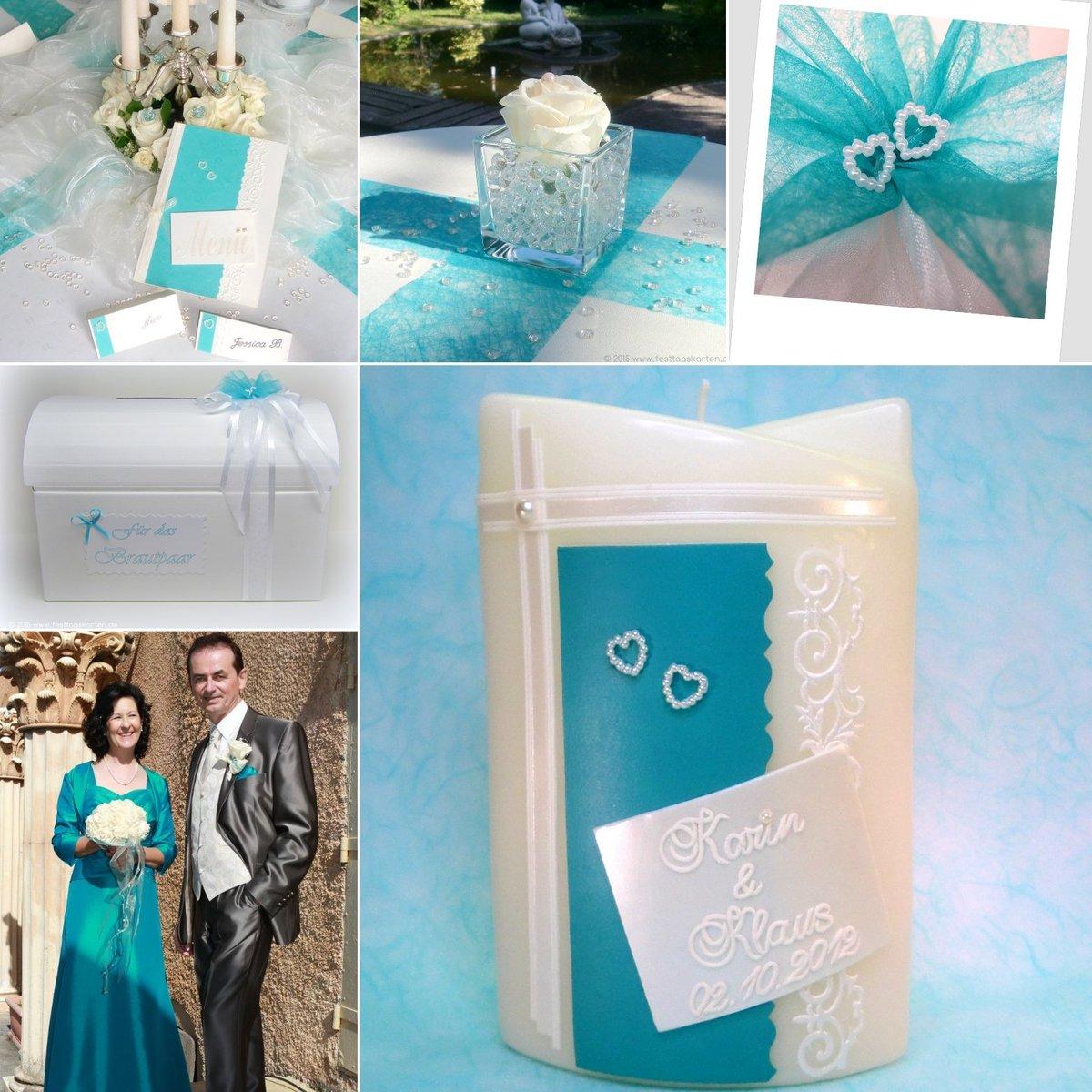 Marion Lofink On Twitter Hochzeit Hochzeitskerze Turkis