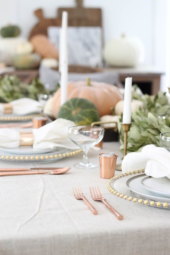 Harvest Farmhouse #TableSetting with #Gold and #Copper accents #TaperCandles #EventDesign  - Rooms For Rent <br>http://pic.twitter.com/RWqTJQdTBi