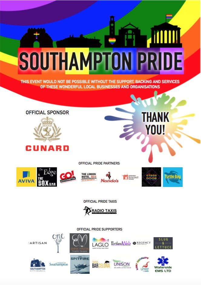It&#39;s #Pride THIS SATURDAY from 11am - it wouldn&#39;t be happening without our incredible sponsor, partners and supporters - so #ThankYou <br>http://pic.twitter.com/vw1nlWNZKn