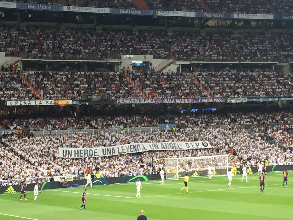 Minut 12+1 al Bernabéu. L'estadi recorda Ángel Nieto https://t.co/gUj2G8ZyKx