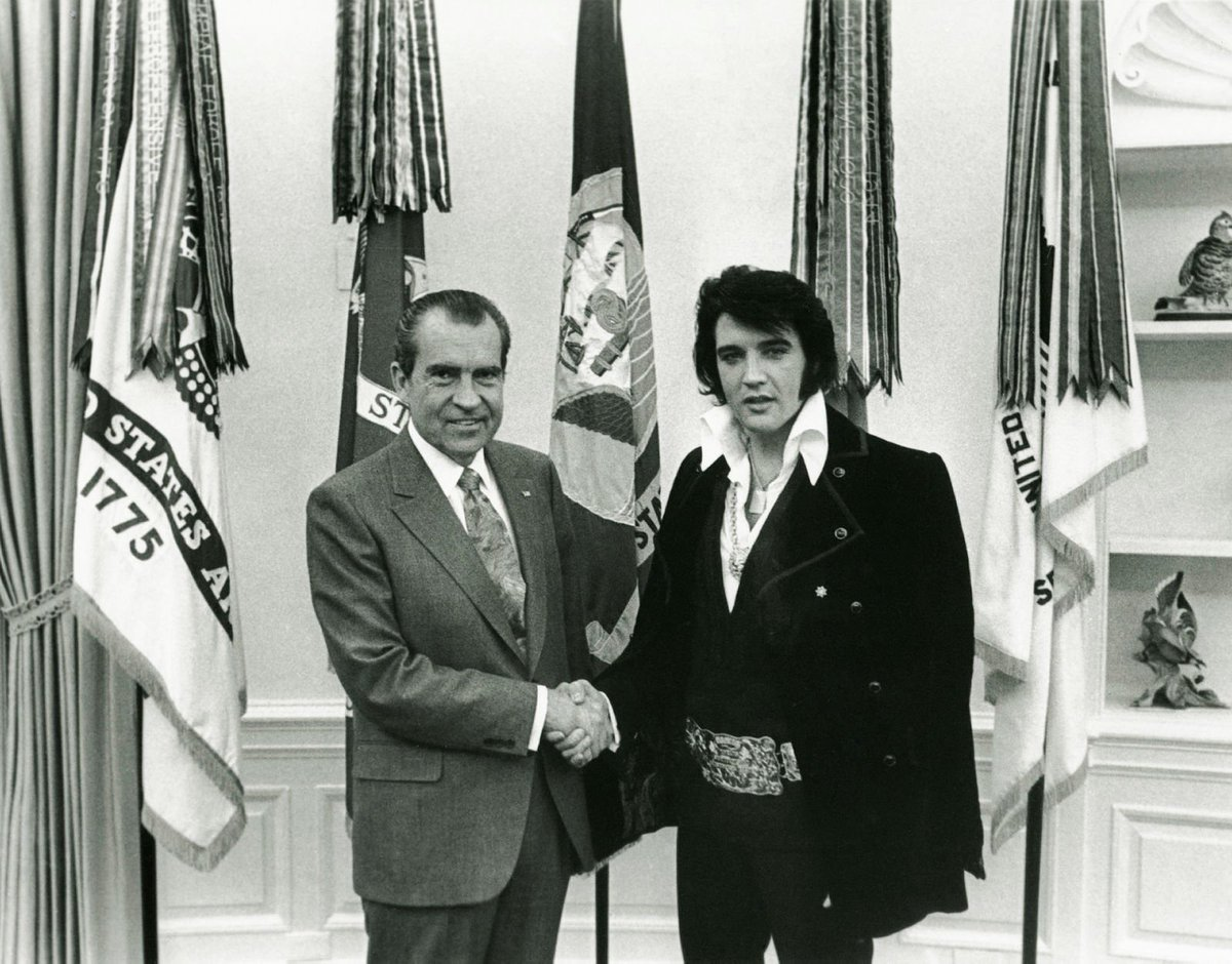 The King was in the building in December 1970 when he famously met President Nixon in the Oval Office. #Elvis40