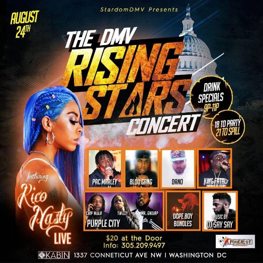 #StardomDmv Rising Stars 8.24.17 @jermaineboney11 @Fatforeign w/ @Rico_nastyy 9pm #Team @FoMerlot #Live #Interview #Support #LocalArtist<br>http://pic.twitter.com/stKt7tWuI5