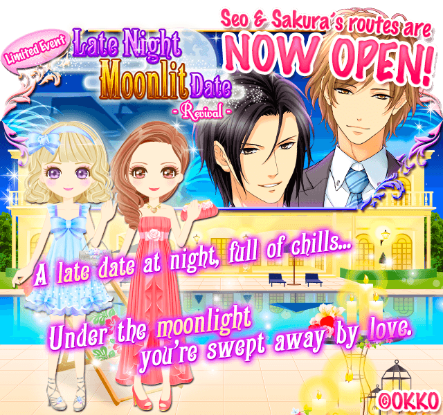 [My Sweet Proposal] The Limited Event Revival &quot;Late Night Moonlit Date&quot; : Sakura and Seo&#39;s routes are NOW OPEN! #OKKO #Otome #Otomegame <br>http://pic.twitter.com/YlV1kRam54