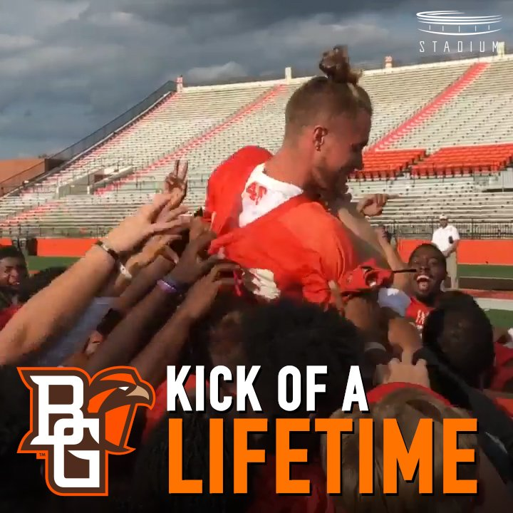 No pressure. 😅 @BG_Football's Jake Suder...