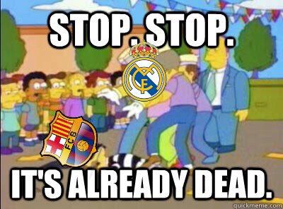 Halftime summed up: Real Madrid 2-0 Barcelona (5-1)  #HalaMadrid #RealMadrid <br>http://pic.twitter.com/WusePeIXAL