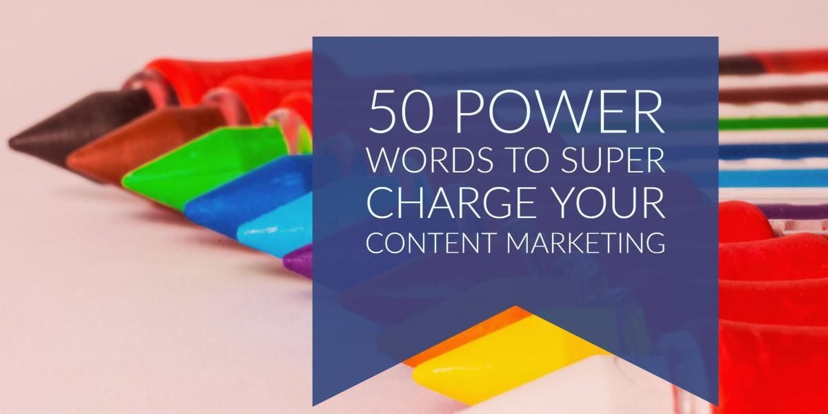 50 Power Words To Super Charge Your #ContentMarketing https://t.co/wo60jRUH7F #socialmediatips
