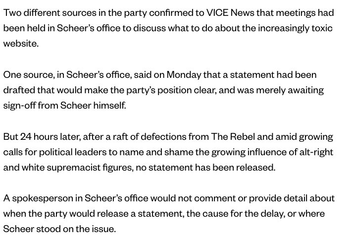 Verrrry interesting, on Rebel and Andrew Scheer, from @Justin_Ling  :...