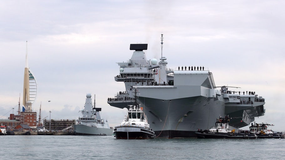 The Royal Navy's largest-ever warship comes home for the first time - https://t.co/HhUh6Aaga7