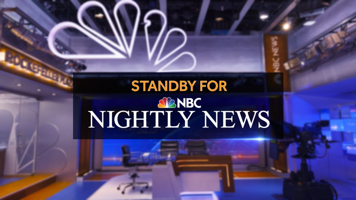 LIVE in the Mountain time zone: Head to the @NBCNightlyNews Facebook page to watch tonight's top story --> https://t.co/UlmzeyB2oU