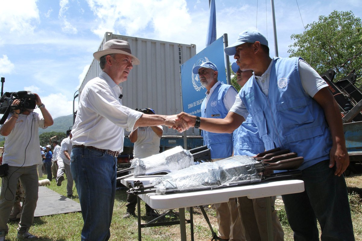 Colombia's FARC rebels handed over the last of their weapons to the UN to make three monuments commemorating peace.