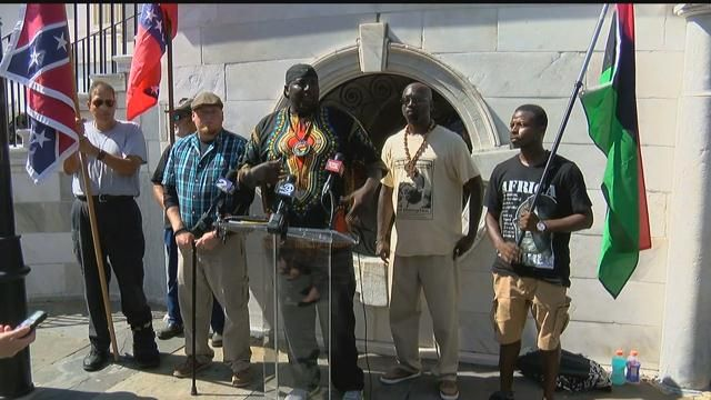 S.C. Secessionist Party, Black Nationalist Movement call for peace, civil discourse https://t.co/jb44kMOF57