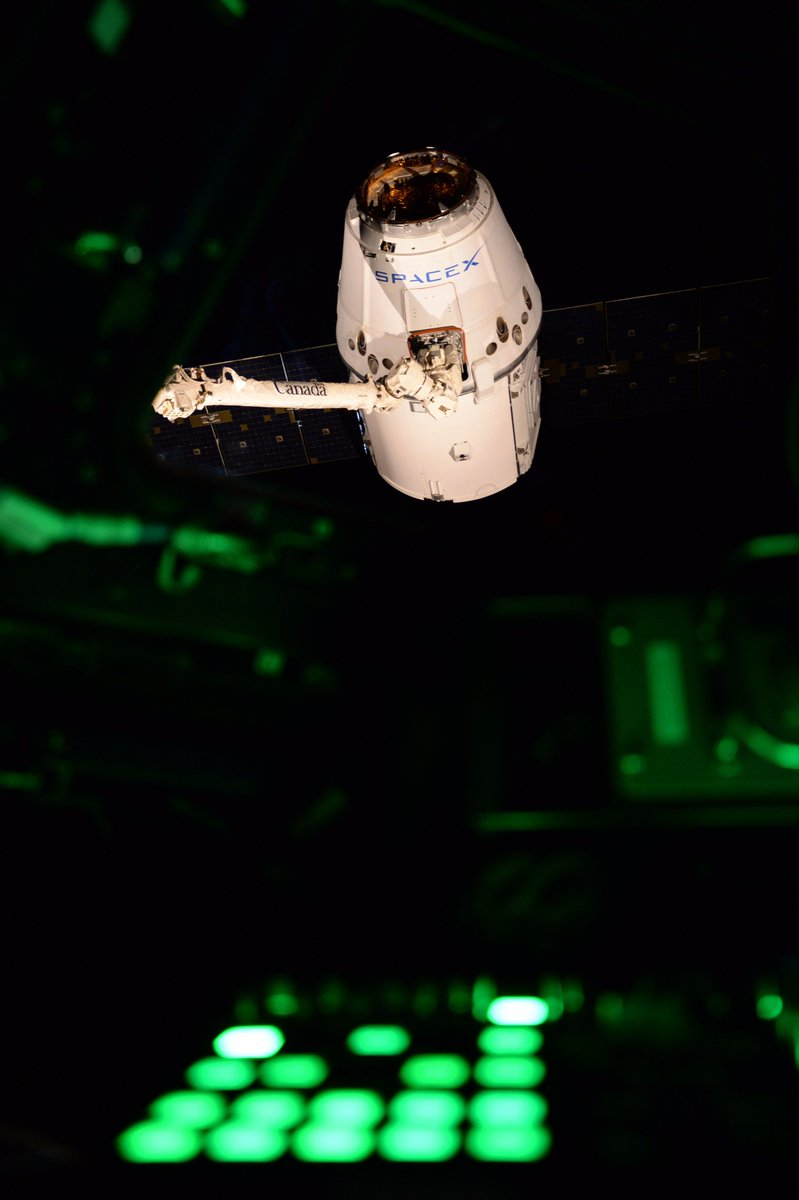 .@Astro2Fish did a stellar job capturing @SpaceX #Dragon, bringing 6,400 lbs of #science and cargo. Learn more:  http:// go.nasa.gov/2vfWqZq  &nbsp;  <br>http://pic.twitter.com/zFBEptMzxv