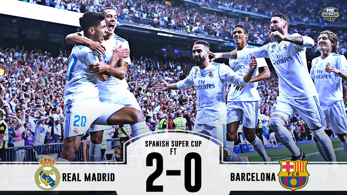Real Madrid get goals from Asensio and Benzema to finish off Barcelona and win the Spanish Super Cup!