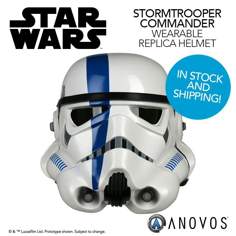Our Star Wars Stormtrooper Commander wearable costume helmet is now in stock and shipping:  http:// bit.ly/2nwUeHF  &nbsp;   #StarWars #ANOVOS <br>http://pic.twitter.com/G9VrnyCvel