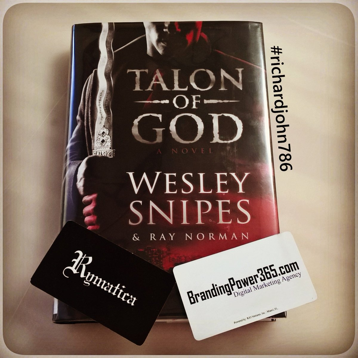 #Reading the #TalonofGod #Novel by #WesleySnipes &amp; #RayNorman. #Author #Writer #Book #Fiction #Debut #Urban #Fantasy #richardjohn786 #Miami<br>http://pic.twitter.com/ecAKgdLb3g