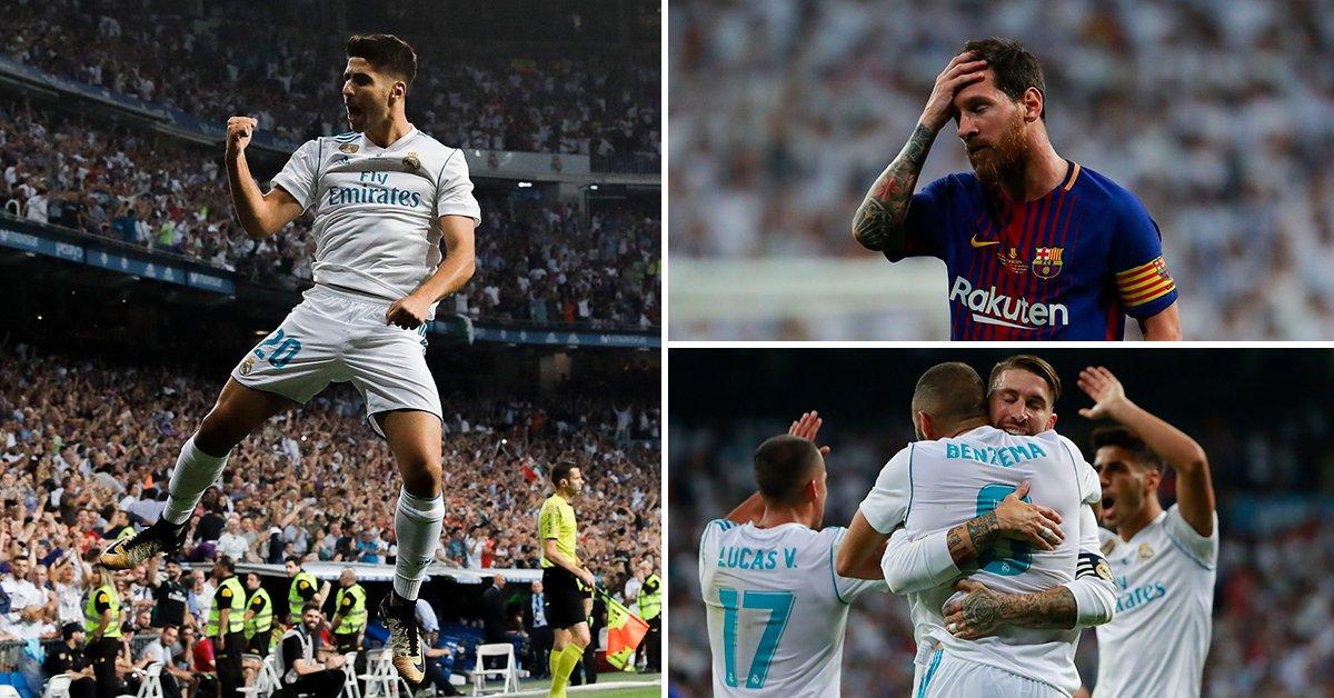 اهداف الكلاسيكو . ريال مدريد بطلاً للسوبر بهدفين في برشلونة