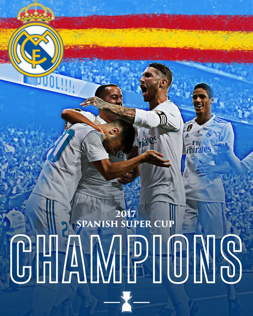 Real Madrid just keep winning!  They beat Barcelona in the Spanish Super Cup to win their 4th trophy of 2017.