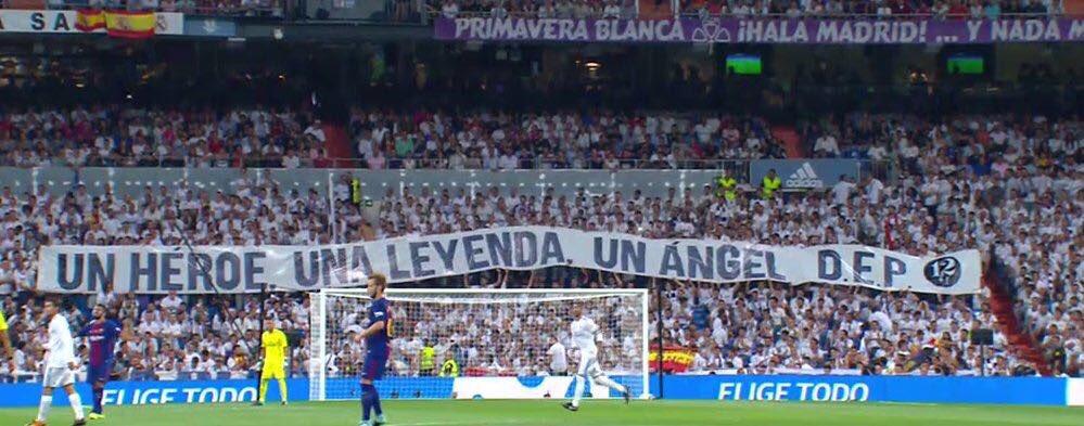 Minuto 12+1 UN HÉROE,UNA LEYENDA,UN ANGEL gracias @realmadrid https://t.co/yfR4E8YBN1