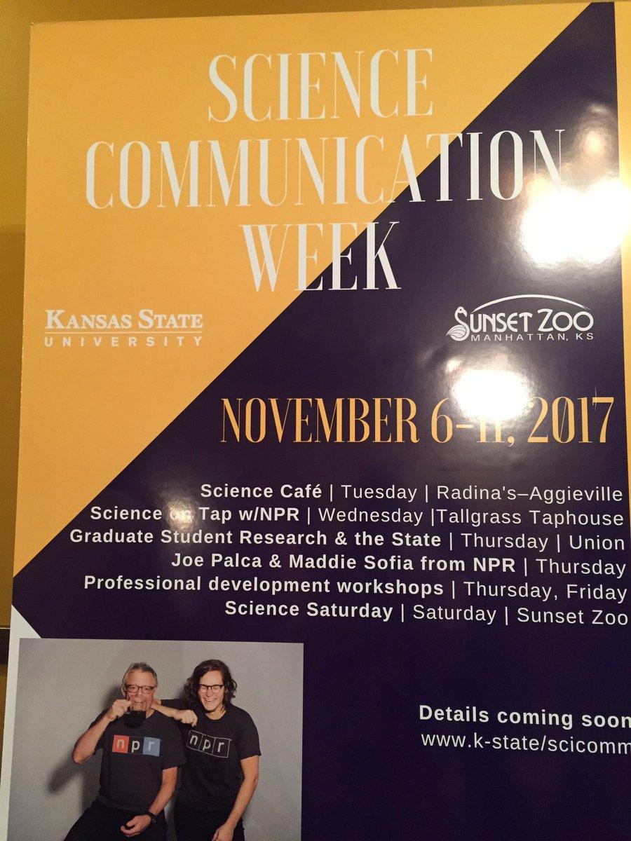 #ScienceCommunication Week happening in Manhattan, KS in Nov! @KState #scholarlycommunication #scholcomm @sunsetzoo @NPR<br>http://pic.twitter.com/emtdK0hdwD