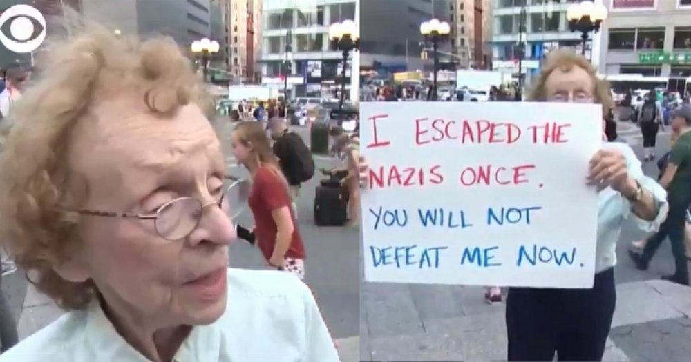 89-year-old woman who survived Nazi Germany takes a stand against Nazi USA. https://t.co/td2xuw4j6u
