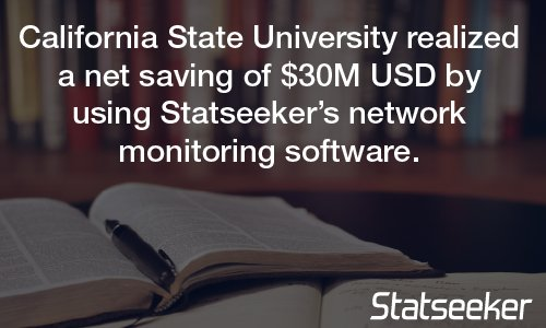 #Statseeker helps @calstate deliver greater network flexibility and visibility Read more:  http:// bit.ly/2ofVy1T  &nbsp;   #networkmonitoring <br>http://pic.twitter.com/KGrDi946FY