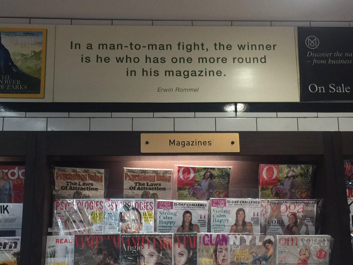 Unusual choice of quotation above the magazine racks in Bali airport... https://t.co/W6L1zrpbIW