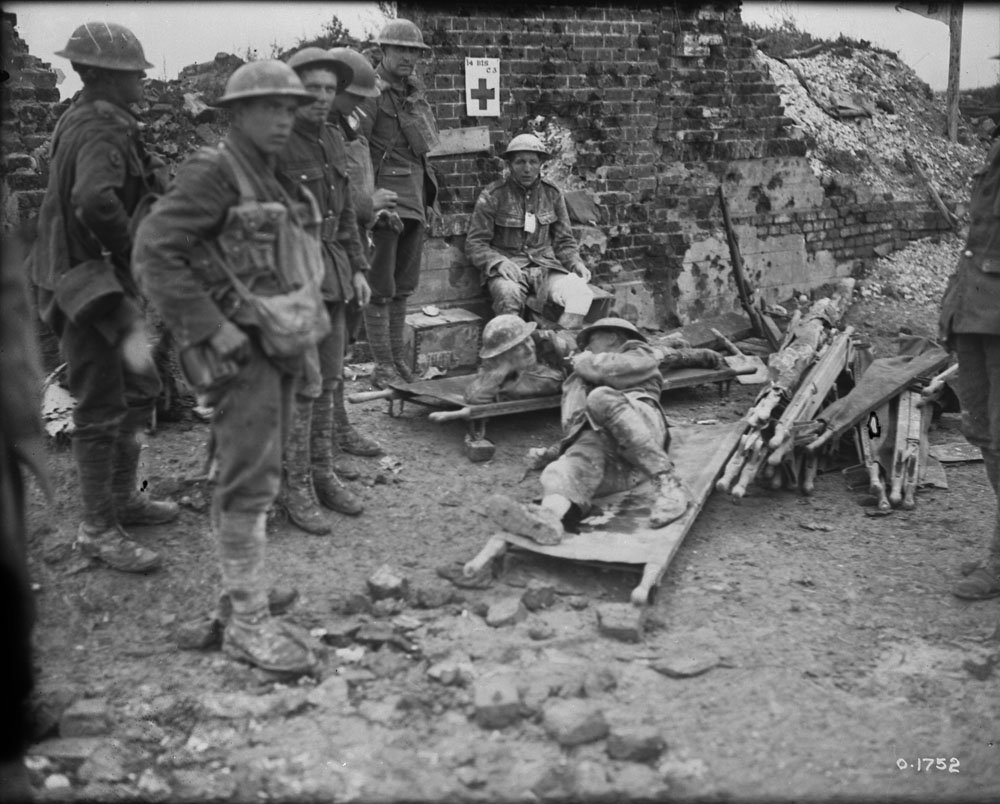 August 1917 - Canadian aid station during the battle to take Hill 70 near Lens in northern France #100yearsago