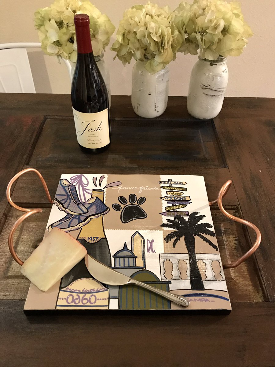 a little wine &amp; cheese! #custom #cheeseboard #valorieoart #homedecor #interiordesign #cheeselovers #wineandcheese #servingpiece #customorder<br>http://pic.twitter.com/Tm5KGawh8d