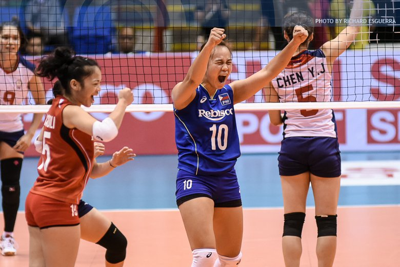 LOOK! #AVCWomensSCH Photos: Chinese-Taipei downs PHI in classification...