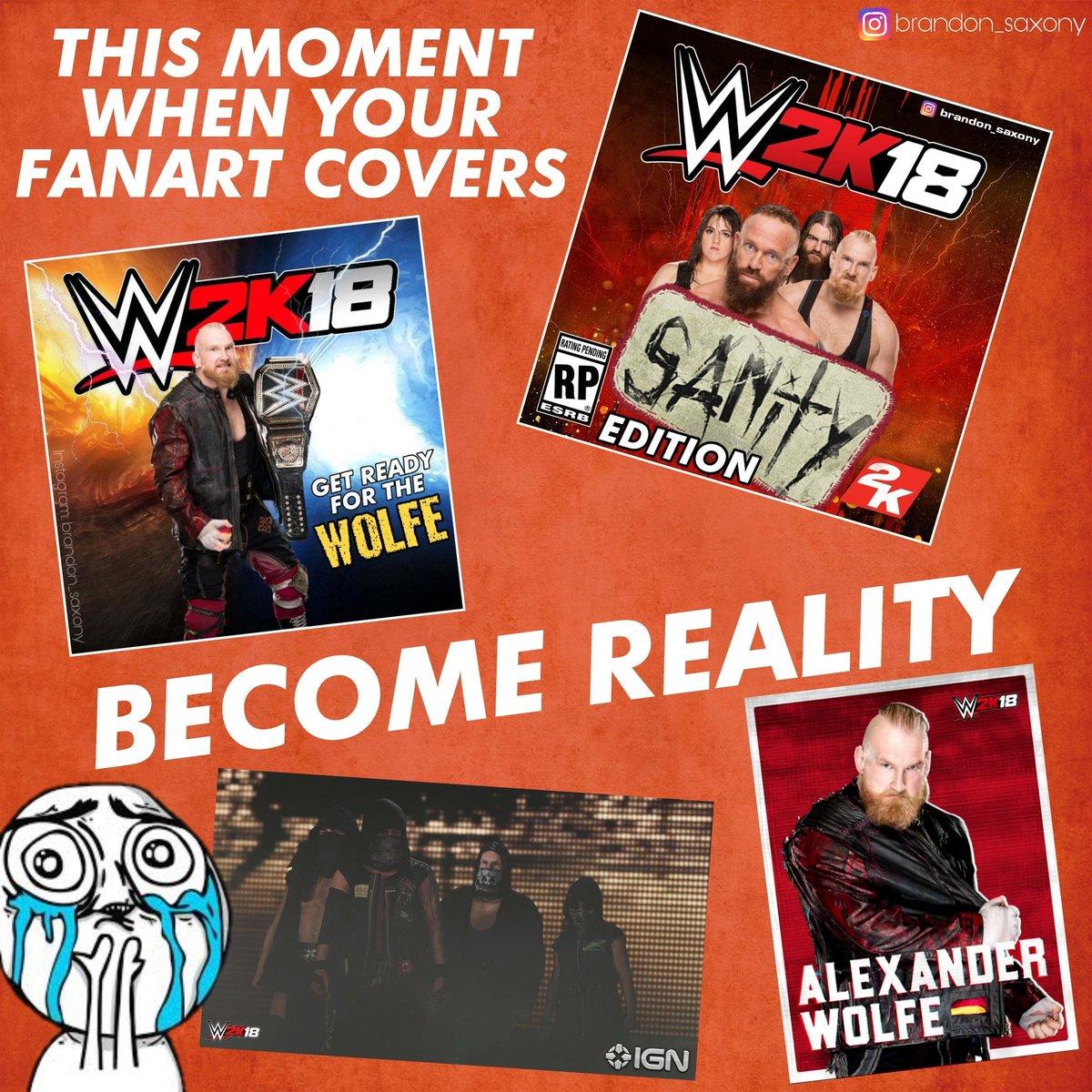 THX @WWEgames  🙌❤ #WWE2K18 #belikenoone #fanart #cover #SANitY https:/...