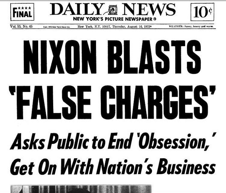 Headline today 1973: