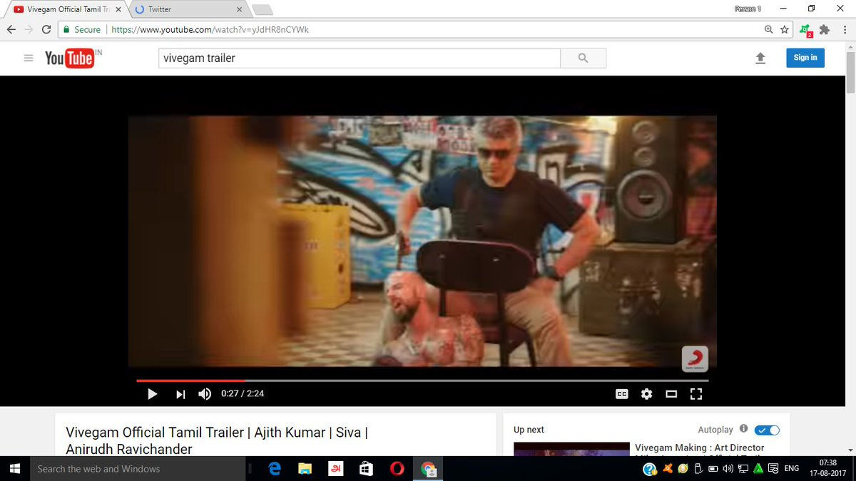 amazing edit by @AntonyLRuben  before #title a footage comes in a millisecond lot of #Surprise_Present in the #Trailer  @directorsiva<br>http://pic.twitter.com/nJd2i8xujD