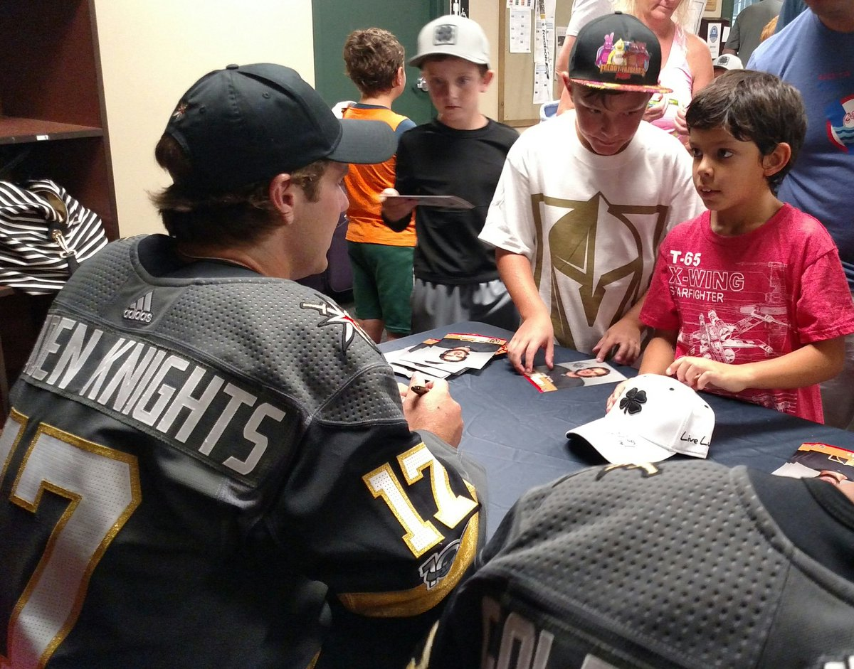 That moment you meet Jake Bischoff @GoldenKnights in person. Awesome t...