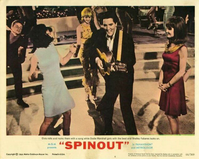 We saw some of #Spinout on @TCM while eating at @webb_kitchen today. Man, #Elvis (and everyone else) never seemed to stop dancing!<br>http://pic.twitter.com/gS9LYp0U9y