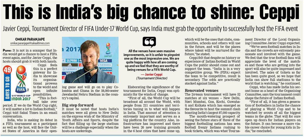 Football fever about to hit Indian shores.. #football #u17WorldCup #FIFA <br>http://pic.twitter.com/KDmKlVgNYh