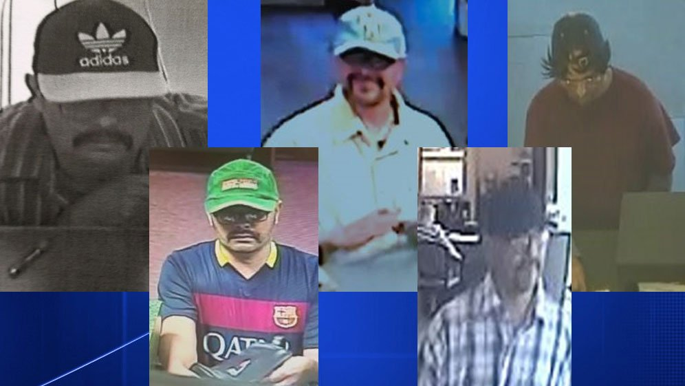 Suspect wanted after 5 similar bank robberies around Methuen https://t.co/qVdITvR5p2