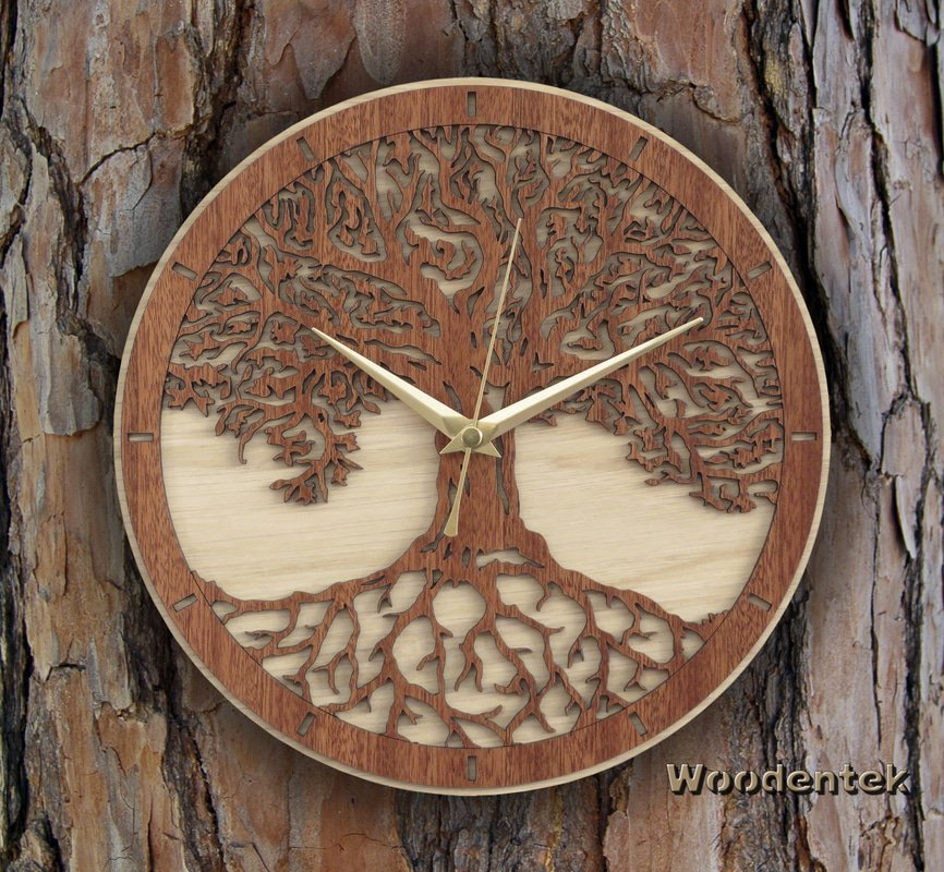 Handmade #TreeofLife clock in wood #MothersDay #Birthday #GiftsIdeas   -  https://www. etsy.com/listing/462288 058/tree-of-life-wood-clock-limited-edition?ref=shop_home_active_5 &nbsp; … <br>http://pic.twitter.com/WBxad8W4y9