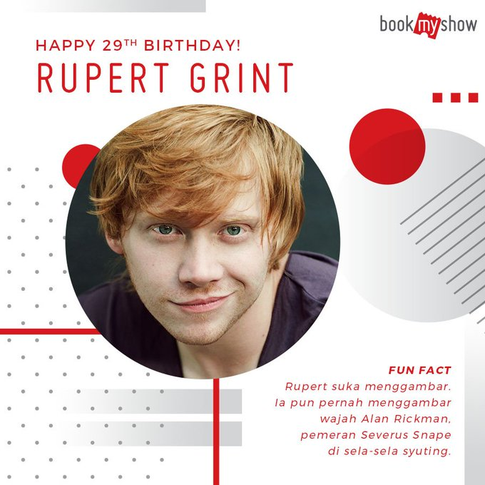 Happy birthday Ron Weasley a.k.a. Rupert Grint!