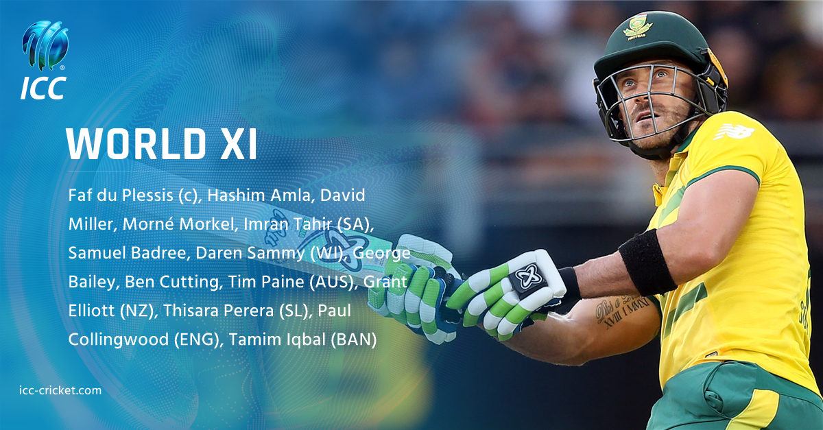 Icc On Twitter South Africa S Faf1307 Will Lead A World Xi In A 3