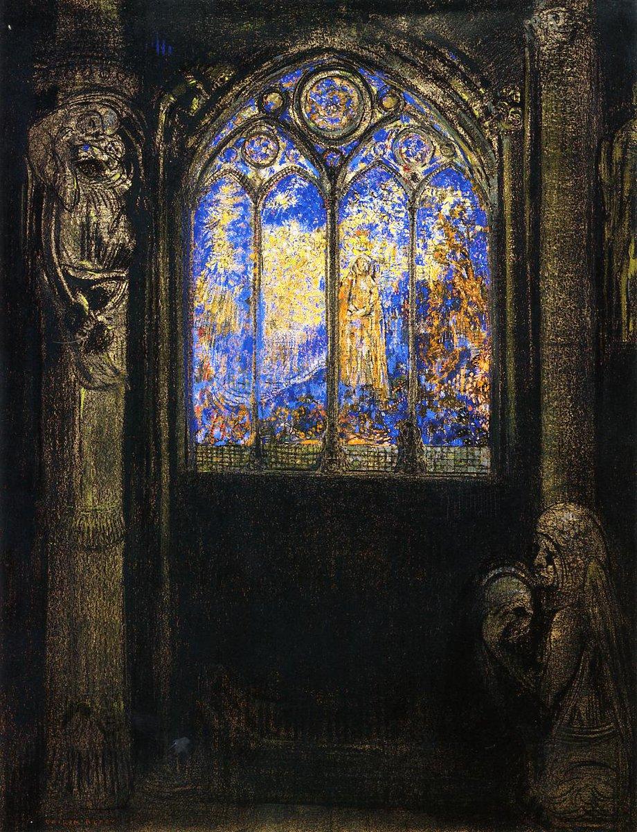 『聖母の窓(ステンドグラス) 』1895-1903年頃 オディロン・ルドン Stained glass window, Odilon Redon https://t.co/Aj39t5wfmH