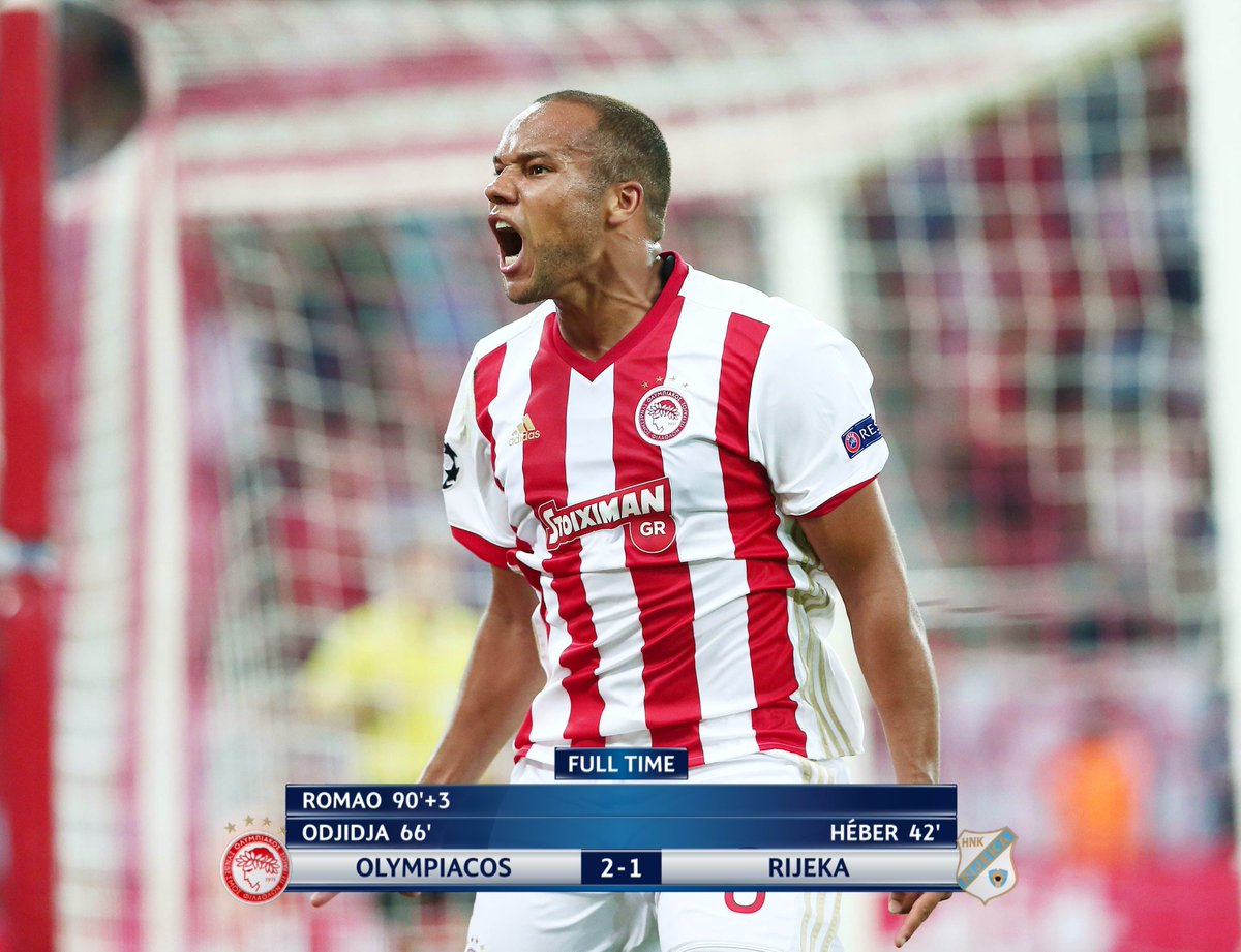 Better late than never for @olympiacos_org 🔴⚪️💪  ⚽️ Odjidja-Ofoe ⚽️ Ro...